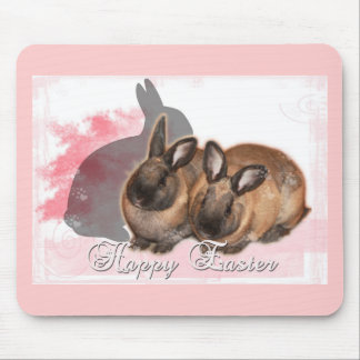 Happy Easter from 2 Easter Bunnies Mouse Pad