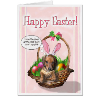 Happy Easter from a Dachshund Puppy Card