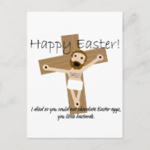 Happy Easter from Angry Jesus Holiday Postcard