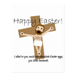 Happy Easter from Angry Jesus Postcard