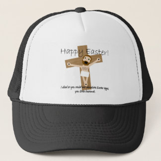 Happy Easter from Angry Jesus Trucker Hat
