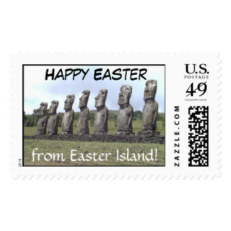 Happy Easter, from Easter Island! Postage Stamp