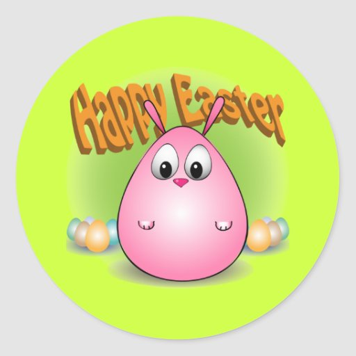Happy Easter from giggleBunny Classic Round Sticker