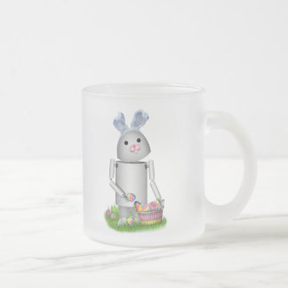 Happy Easter From Lil Robo-x9 10 Oz Frosted Glass Coffee Mug