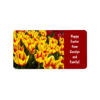 Happy Easter from Name & Family labels Tulips