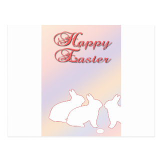 Happy Easter from the Easter Bunnies Postcard