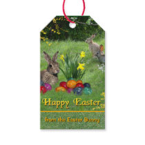 Happy Easter from the Easter Bunny Gift Tags