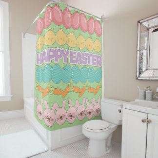 Easter fun gifts on zazzle happy easter fun shower curtain negle Image collections