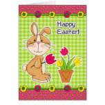 Happy Easter. Funny Easter Bunny Greeting Cards