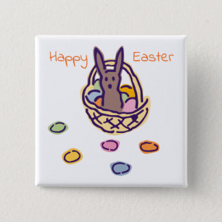 Happy Easter Ghoulie Bunny Basket Pinback Button