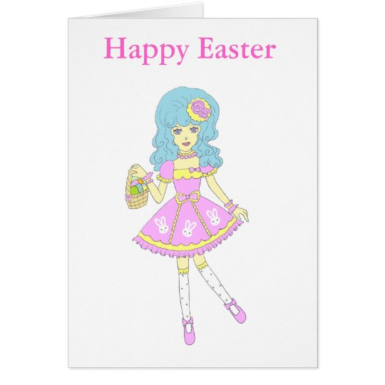 Happy Easter Girl Card