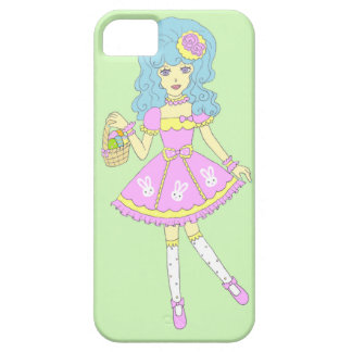 Happy Easter Girl Green iPhone SE/5/5s Case