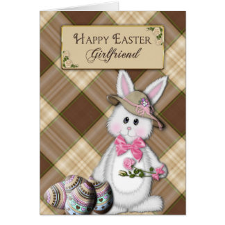 HAPPY EASTER - GIRLFRIEND - BUNNY CARD