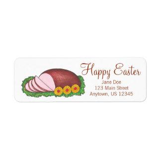 Happy Easter Glazed Ham Foodie Address Labels
