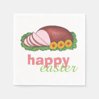 Happy Easter Glazed Sliced Ham Dinner Napkins