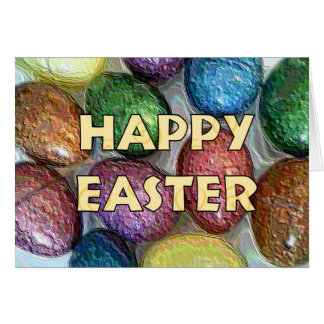 Happy Easter Glitter Eggs Card