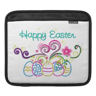 Happy Easter Glitter Eggs & Floral iPad Sleeve
