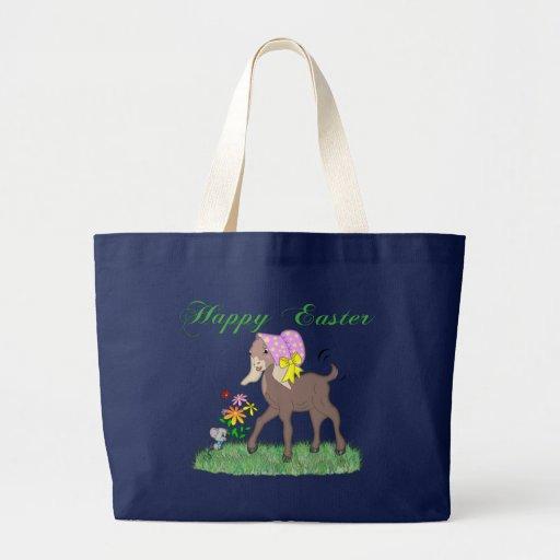 Happy Easter Goat Jumbo Tote Bag