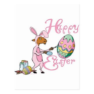 Happy Easter Goat Postcard