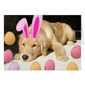 Happy Easter Golden Retriever Card