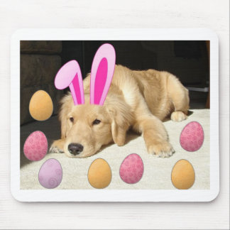 Happy Easter Golden Retriever Mouse Pad