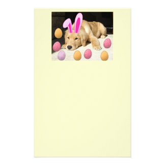 Happy Easter Golden Retriever Stationery