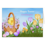 Happy Easter Granddaughter Greeting Card