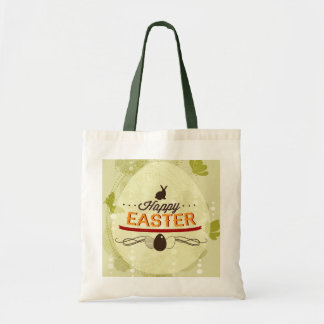 Happy Easter Green Budget Tote Bag