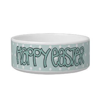 Happy Easter green Bowl Cat Food Bowls
