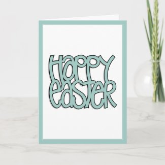 Happy Easter green Card card