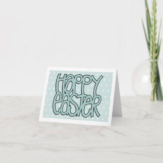 Happy Easter green dot Note Card card