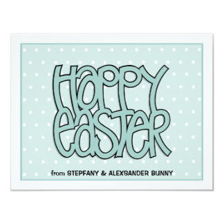 Happy Easter green flat Easter Note Card