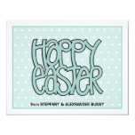 "Happy Easter green flat Easter Note Card 4.25"" X 5.5"" Invitation Card"