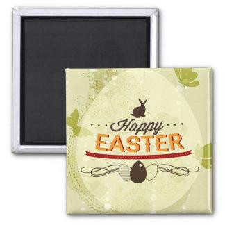 Happy Easter Green Fridge Magnet