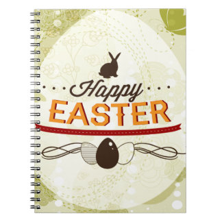 Happy Easter Green Notebook