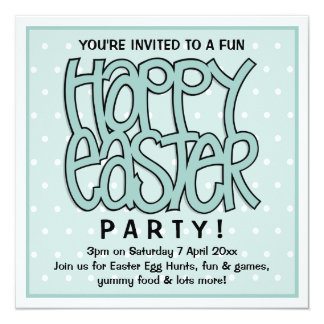Happy Easter green Party Invitation