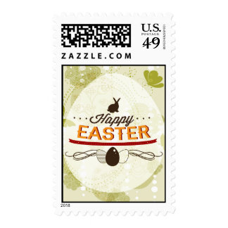 Happy Easter Green Stamps