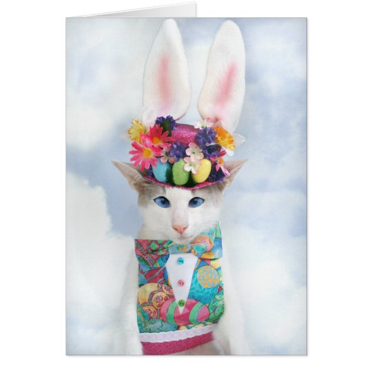 Happy Easter Greeting Card by Skeezix the Cat