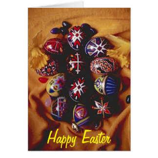 Happy Easter Greeting Card~Decorative Easter Eggs