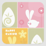 Happy Easter Greeting Sticker
