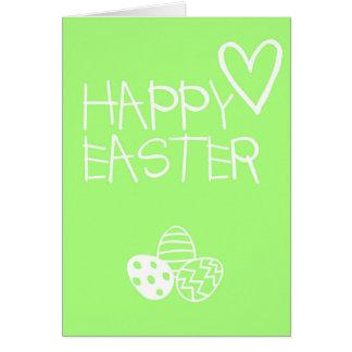 Happy Easter Greetings Card Simple