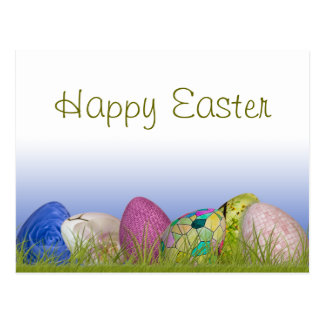 """Happy Easter""  Half Dozen Easter Eggs Postcard"