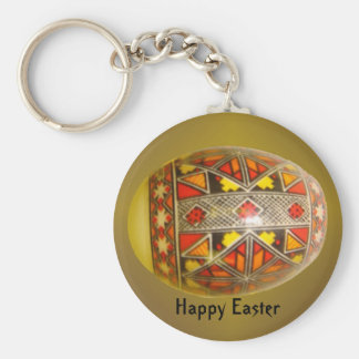 Happy Easter Hand-Painted Romanian Egg 5 Keychains