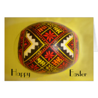 Happy Easter Hand-Painted Romanian Egg #6 Card
