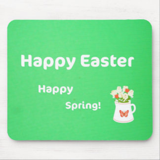 Happy Easter, Happy Spring! Mouse Pad