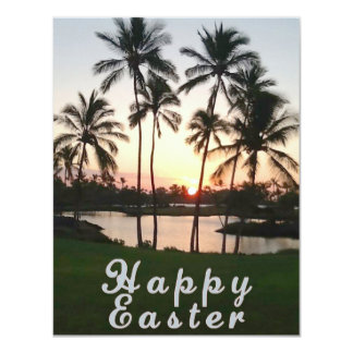 Happy Easter Hawaii Personalized Announcements