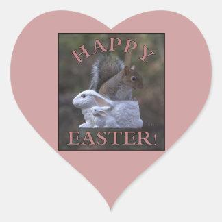 Happy Easter Heart Sticker