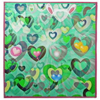 Happy Easter Hearts napkins