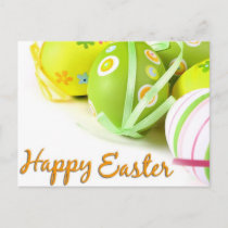 happy easter holiday postcard