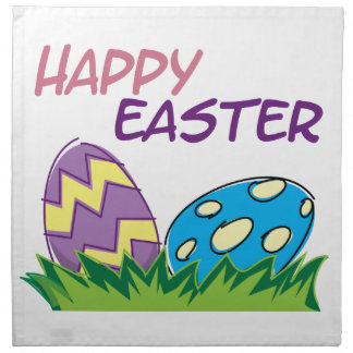 Happy Easter Home Decorations Printed Napkin
